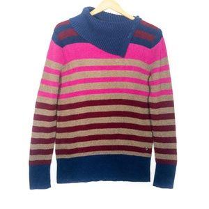 ✨3/$25✨Eddie Bauer Colour Block Cowl Neck Sweater
